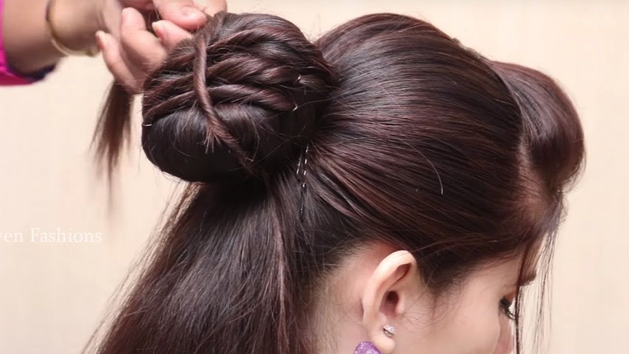 How to make a easy perfect bun hairstyle bun hairstyles for long