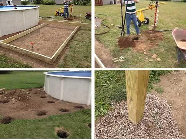 Diy Pool Deck Diy Pool Pool Landscaping Diy Deck