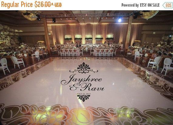 Sale Reception Party Huge Damask Theme Dance Floor Decal