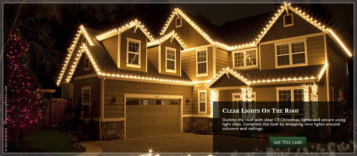 Outdoor Christmas Lights Ideas For The Roof Pinterest C9