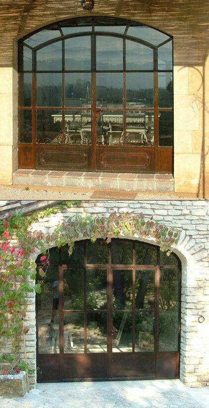 Baie Vitree Porte De Grange Ramounet Pinterest Doors Glass