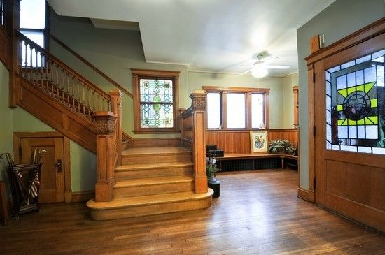 Old House Foyer : Foyer in century old four square house interiors early