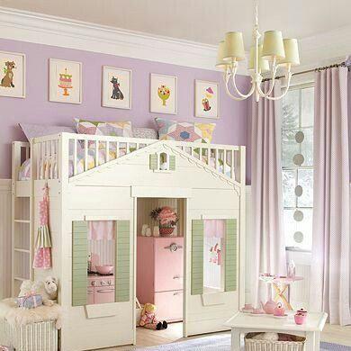Loft cottage playhouse bed
