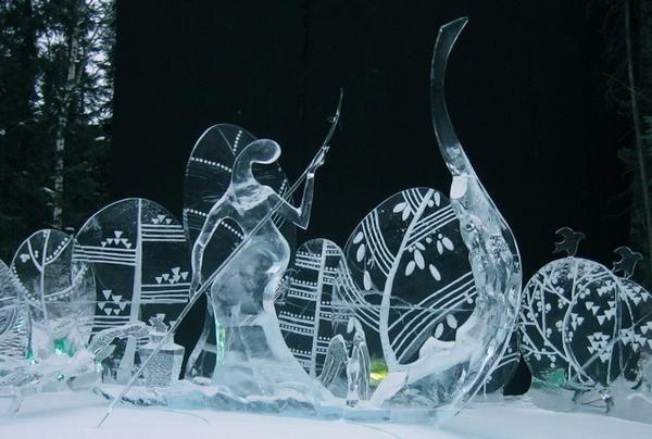 Hermosas Esculturas en Hielo