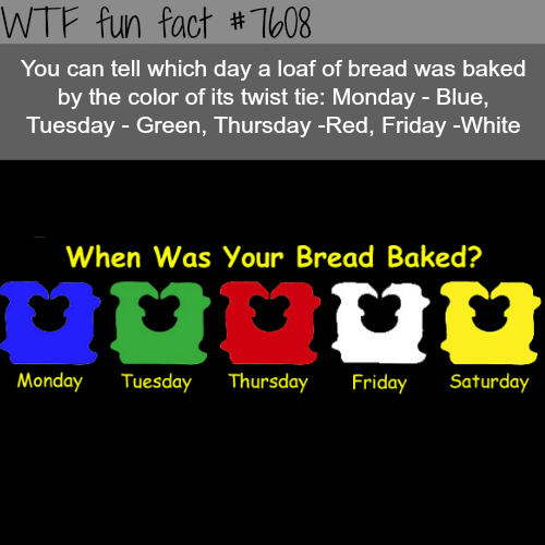 Amazing Funny: How To Tell Which Day Your Bread Was Baked