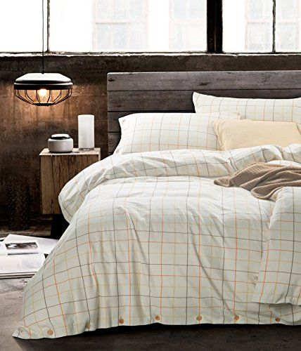Linens Bed Frames Ufo Home 100 Cotton Flannel 3pc Duvet Cover Set Yarn Dy