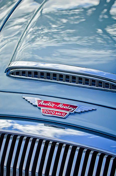 Austin-healey 3000 Mk II Hood Emblem - Car Images by Jill Reger