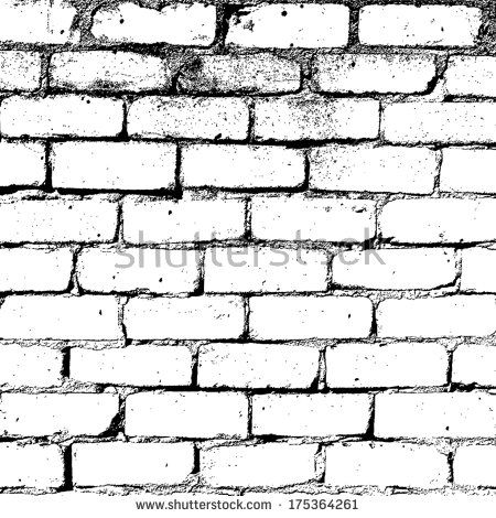 Brick Wall Overlay Texture For Your Design Eps10 Vector