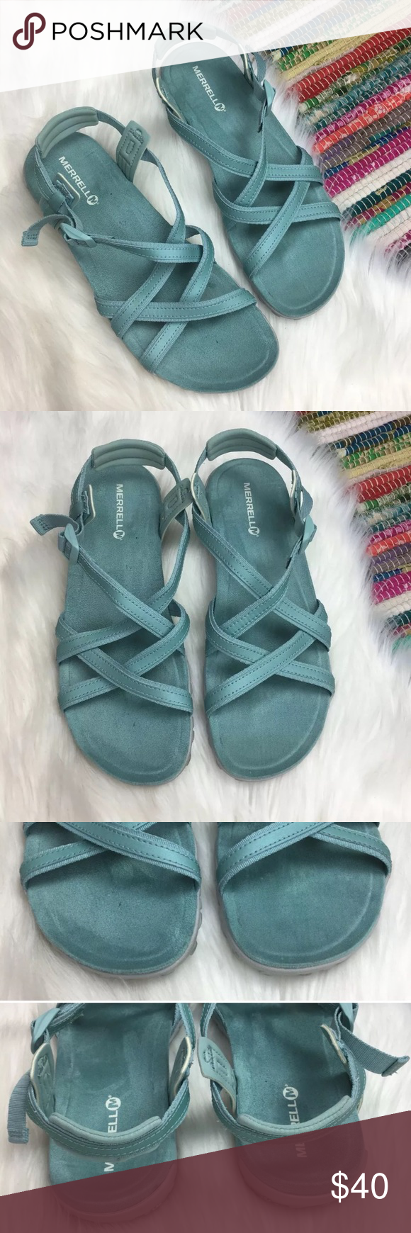 7fbfc8d07954 Merrell Terran Lattice Strappy Sandals Aqua Sz 11 Merrell Womens Terran Ari Lattice  Sandals Brand