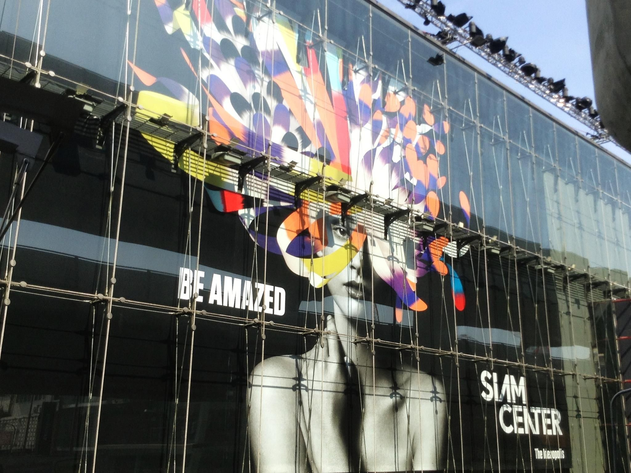 Siam Centre Building Glass Wrap With Foil Vinyl Vinyl