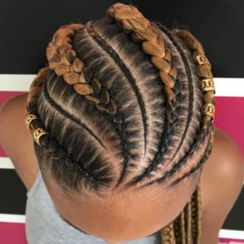 two tone ghana braids cornrows