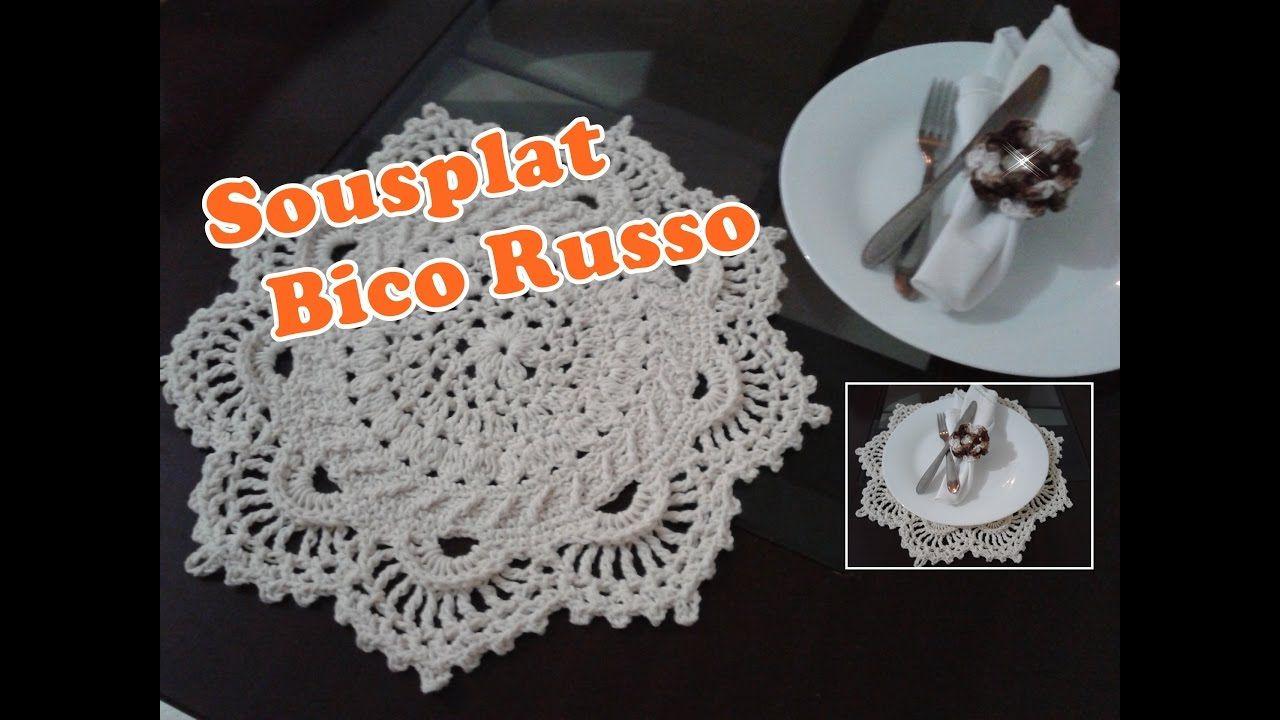 Sousplat Croche Bico Russo Com Imagens Sousplat Carrinhos De