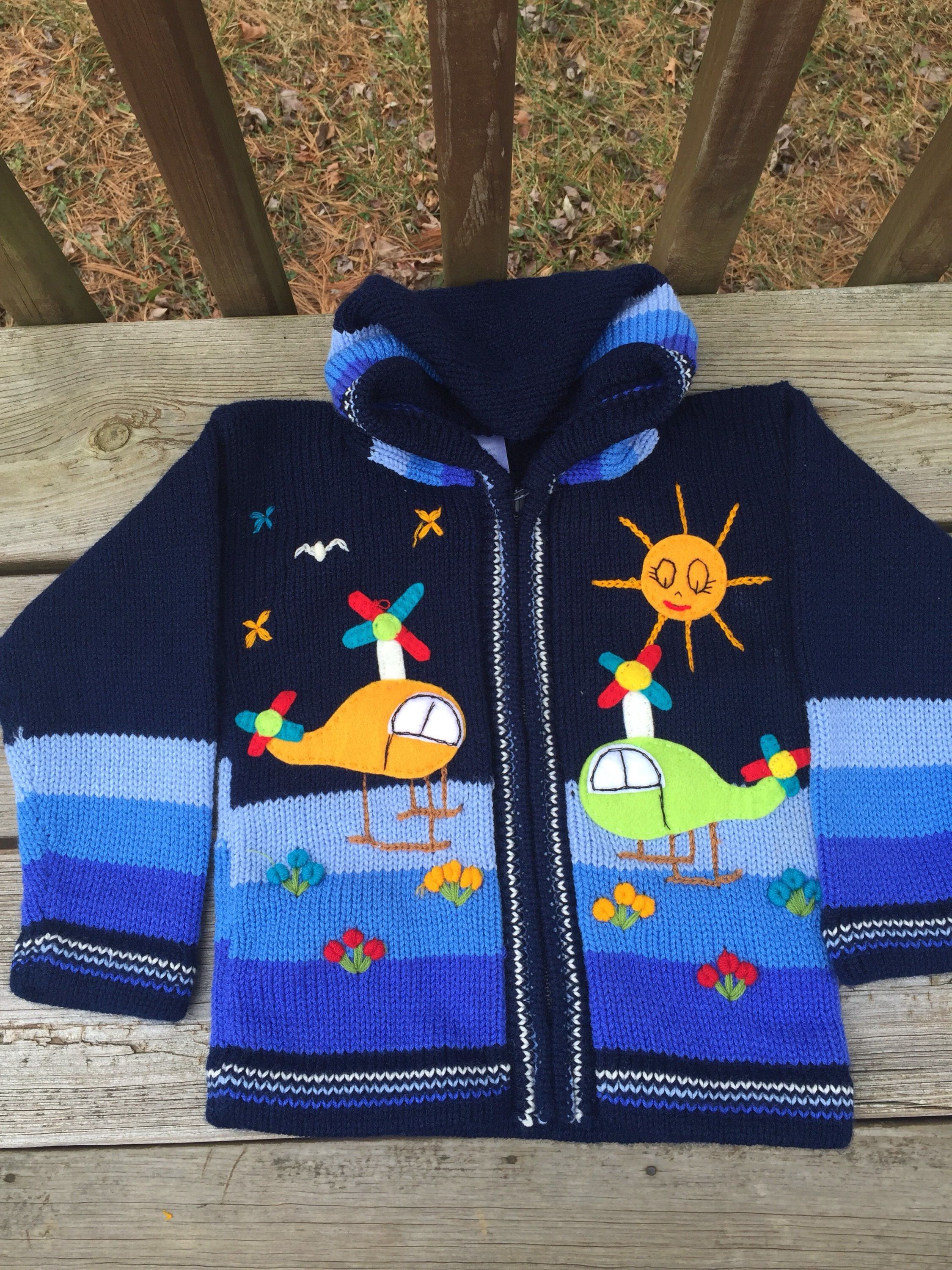 Blue Kids Sweater Zip Hoodie Toddler Sweater Kids Clothing Knit Sweater Kids Cardigan Kids Clothes Handmade Sweater Hipster Chopter