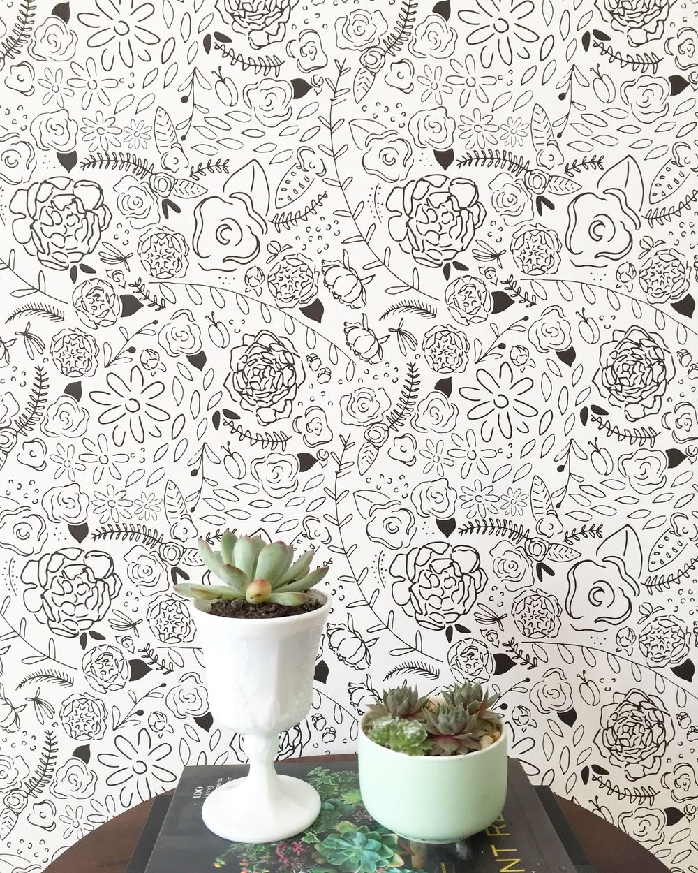 Floral Circus Is Lovely And Whimsical And We Love It Easy To Remove And Easy To Apply Our Wallpaper Is Ideal Removable Wallpaper Wallpaper Floral Wallpaper
