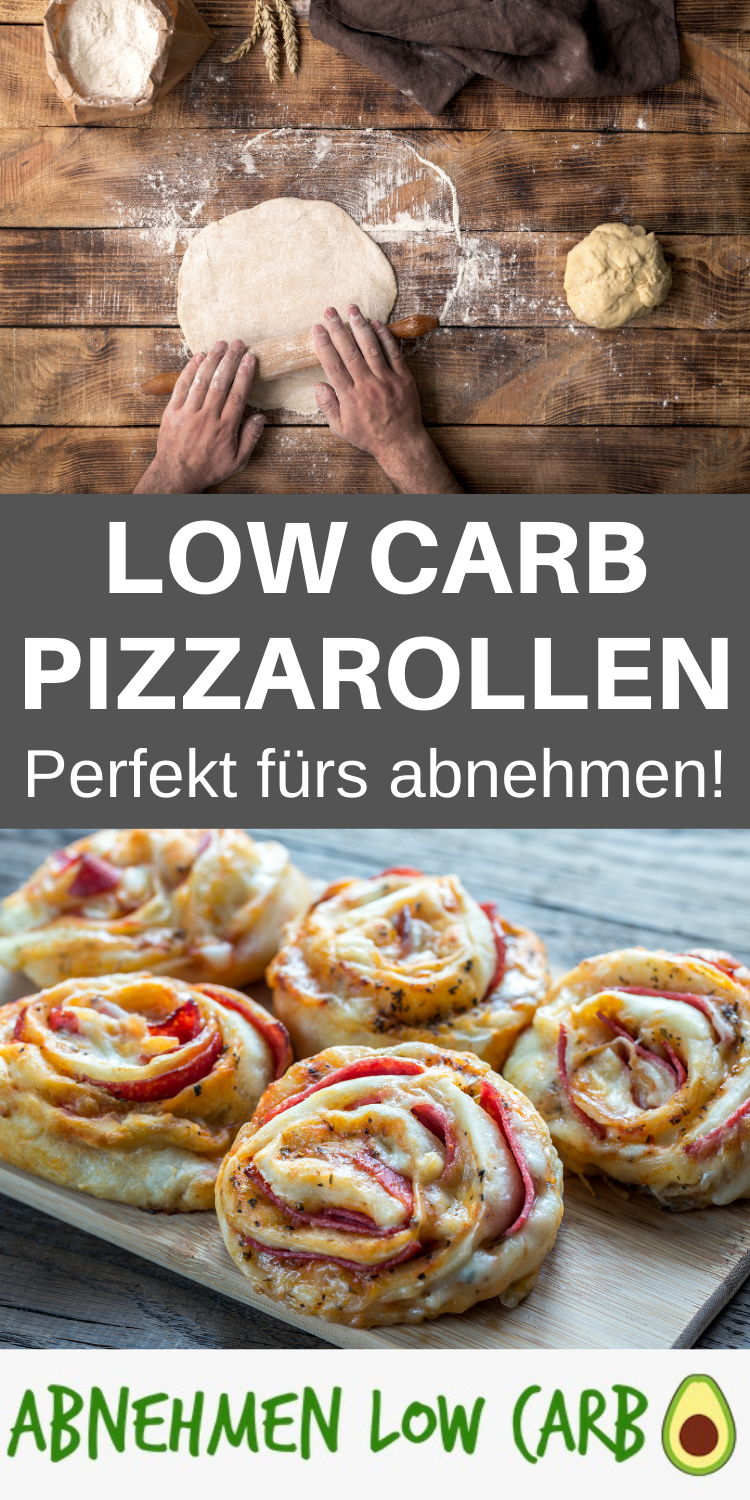 Low Carb Pizzarollen - super schnell - Abnehmen Low Carb