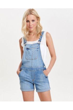 dames jumpsuits - only korte denim tuinbroek   alain   overalls