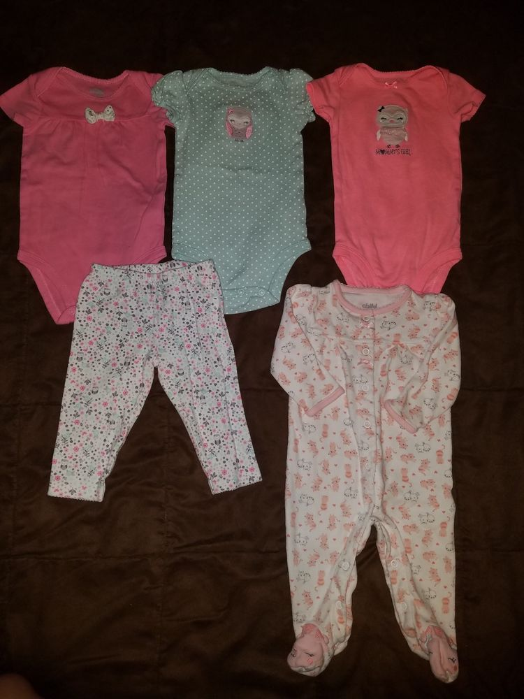 Girls' Clothing (newborn-5t) Baby Girl Mixed Lot Size 3-6 Months