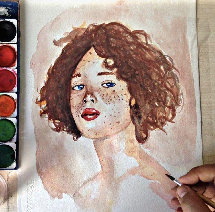 Sulu boya portre çalışması en ucuz sulu boya ile yapılmıştır daha fazlası için beni takip etmeyi unutmayın
