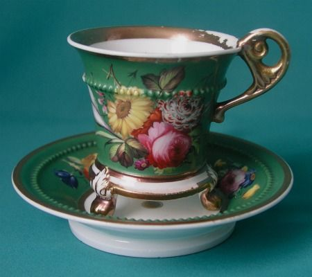 A fine Minton cabinet cup and stand, c.1825-30