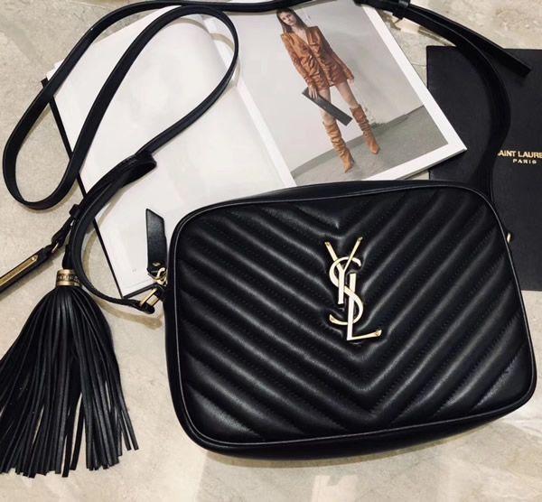 Lou Camera Bag In Black Matelasse Leather Leather Handbags Bags Saint Laurent Handbags