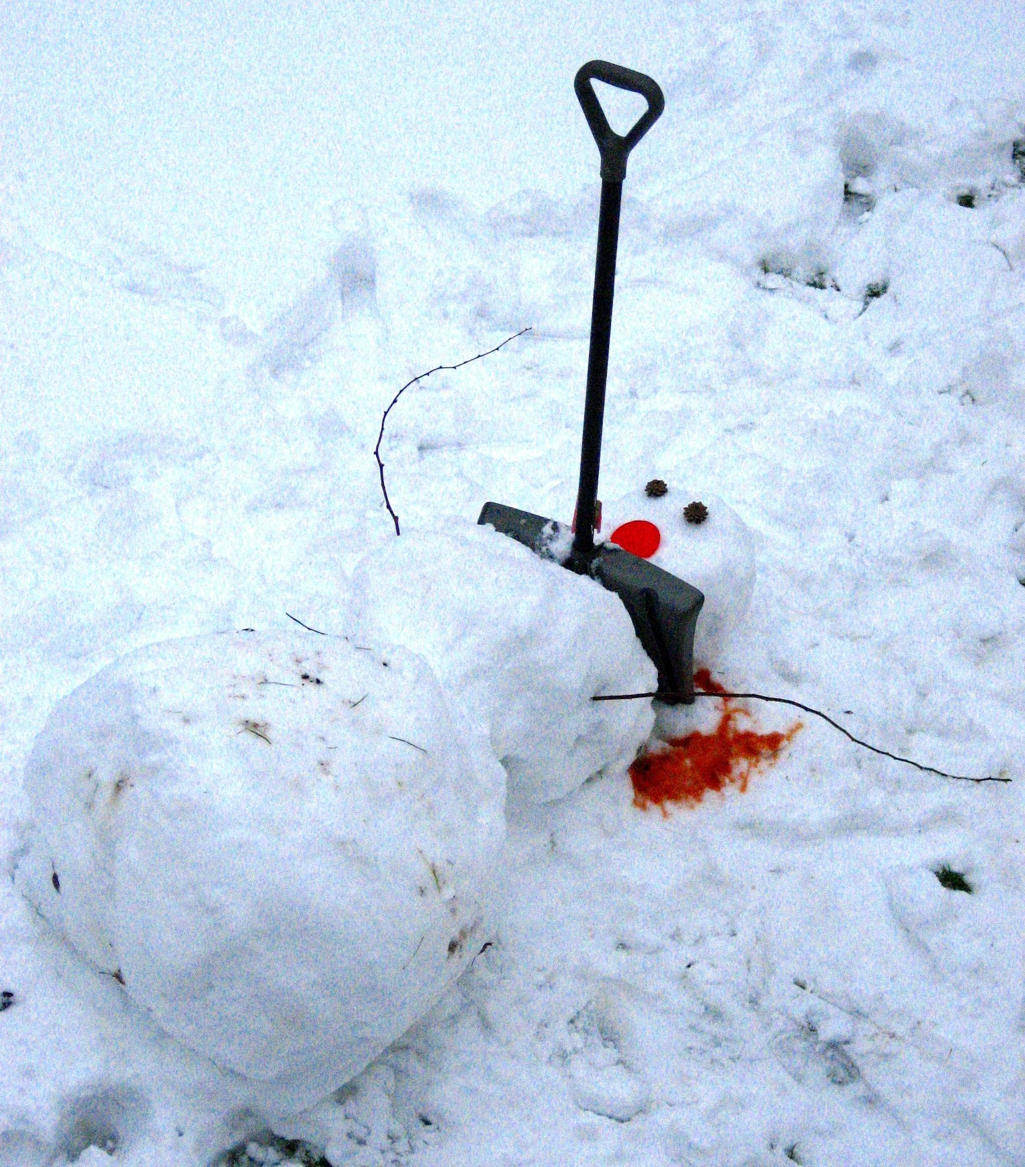 Why not make your next snowman a daddy too?   Snowman ...  Snowman Too Much Snow