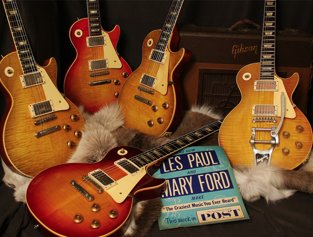 Vintage Les Pauls at Rumble Seat Music.