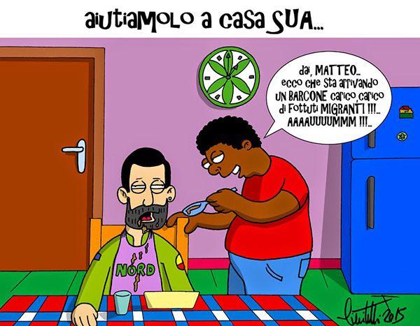 #salvini #IoSeguoItalianComics #Satira #matteorisponde #migranti