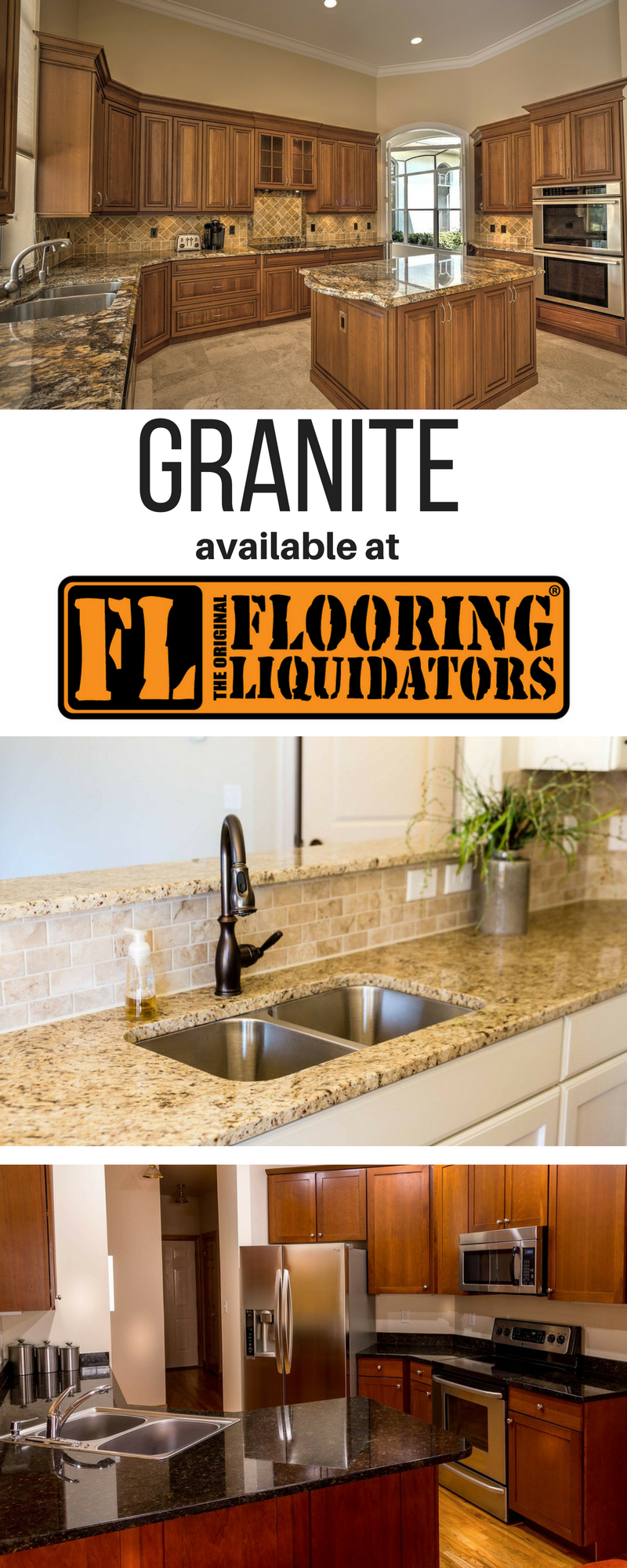 Granite is available at Flooring Liquidators! Make your