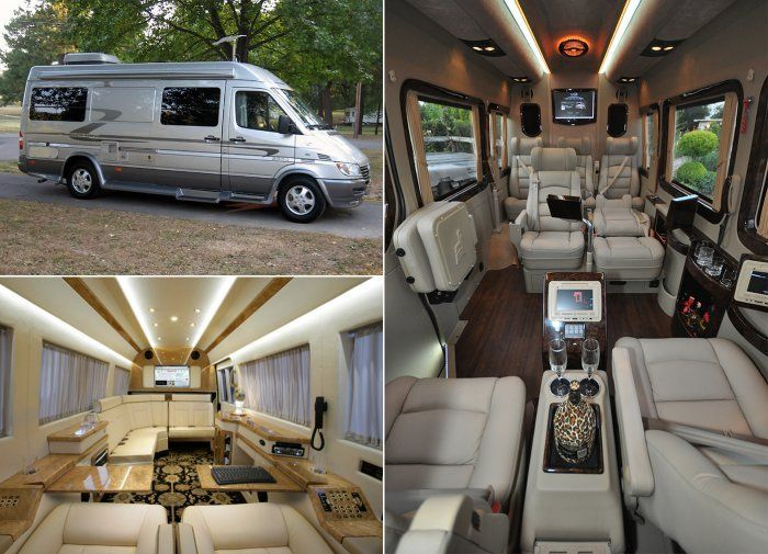 Examples of luxurious rv sprinter conversions motorhomes for Mercedes benz luxury rv