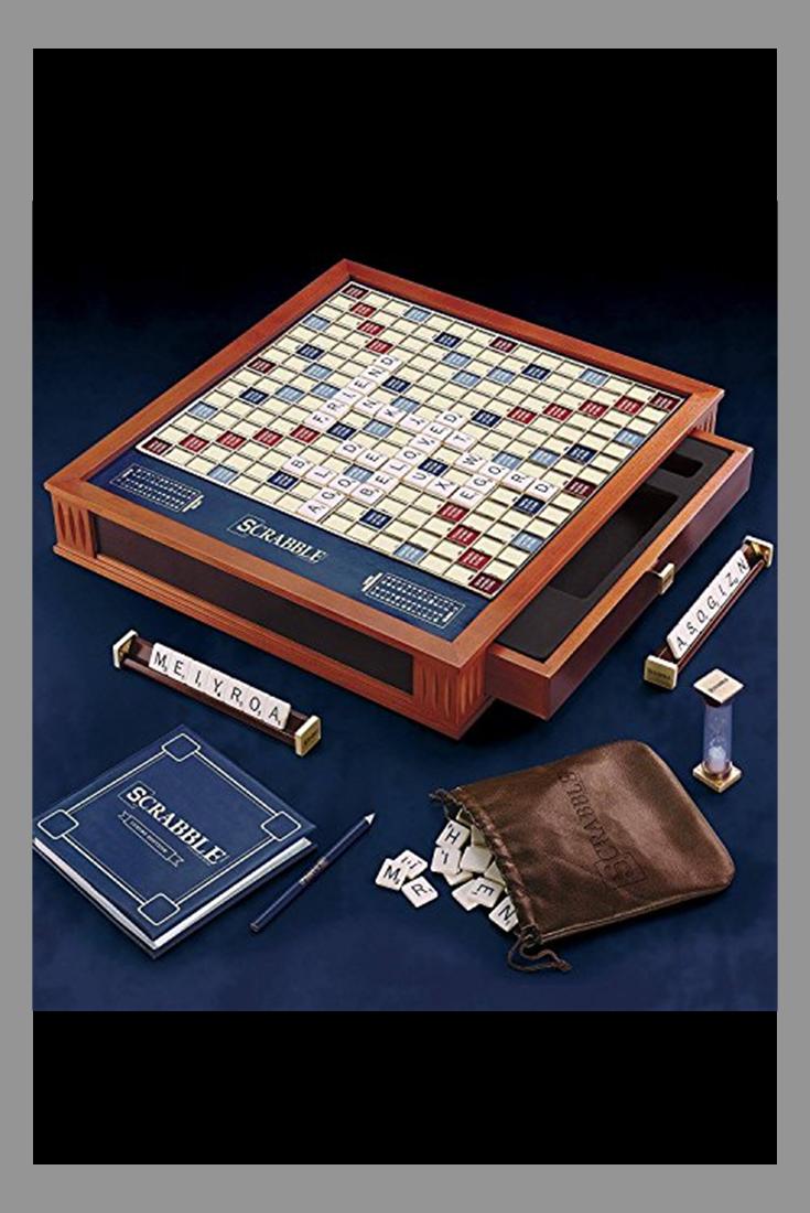 Scrabble Luxury Edition Board Game | Board games, Wood ...