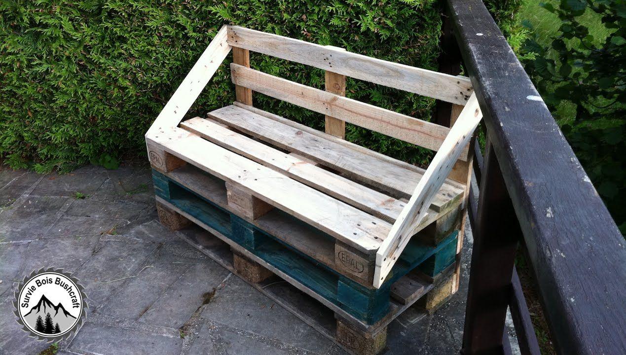 fabrication dun banc pour le jardin en bois de palette cest un diy trs facile qui ncessite peu de temps peu dexprience et peu doutils - Fabrication D Un Banc De Jardin En Bois