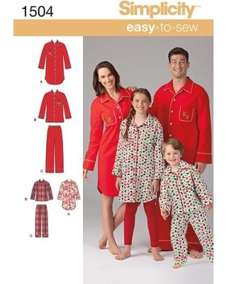 Simplicity 1946 Learn to Sew Childs Teens and Adults Robe Sewing Pattern Youth Sizes XS-L and Adult Sizes XS-XL