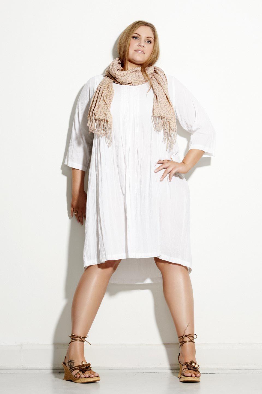 e25575410236 Oversize tunika kjole HVID. Plus size dress from Charlot and Me ...
