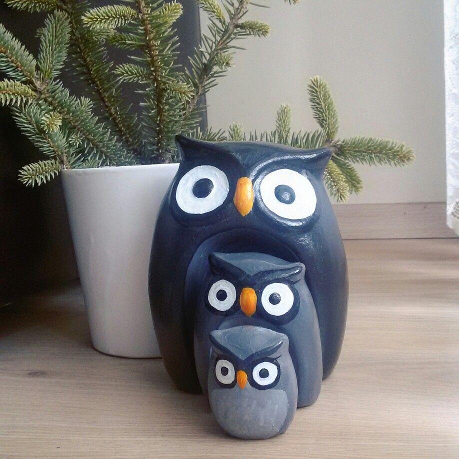 Owl Love Hand Painted Baykus Askina El Boyama Alci Baykus