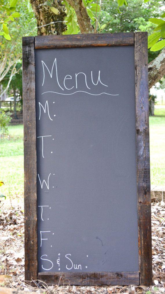 Large Rustic Wood Chalkboard by shabbyfarmhousedecor on Etsy, $70.00