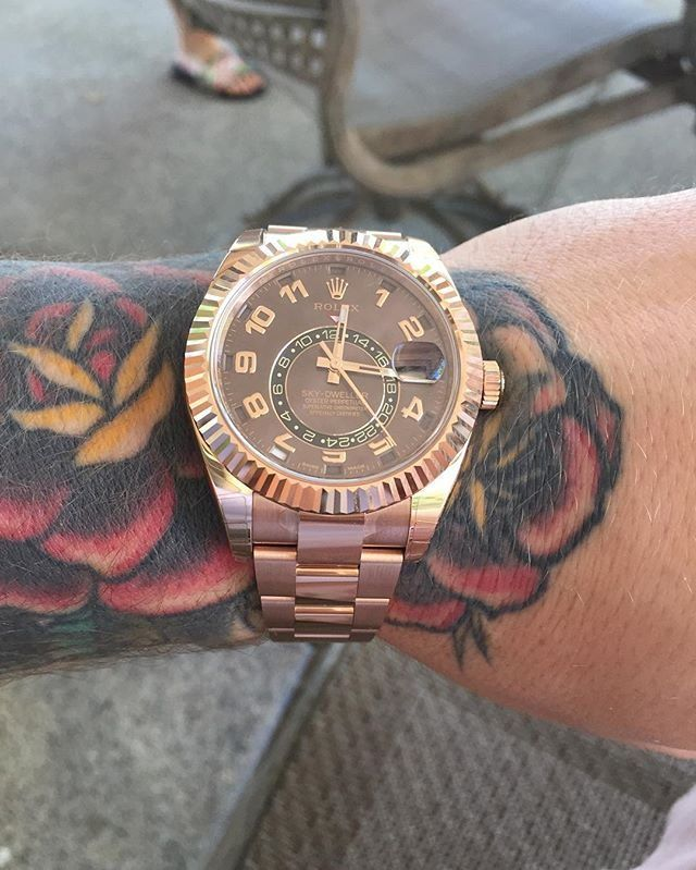 Image result for conor mcgregor Rolex Sky-Dweller Yellow Gold