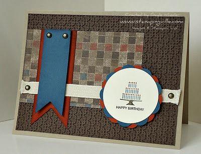 masculine card ScrapbookingCards Pinterest – Handmade Birthday Card Ideas for Men