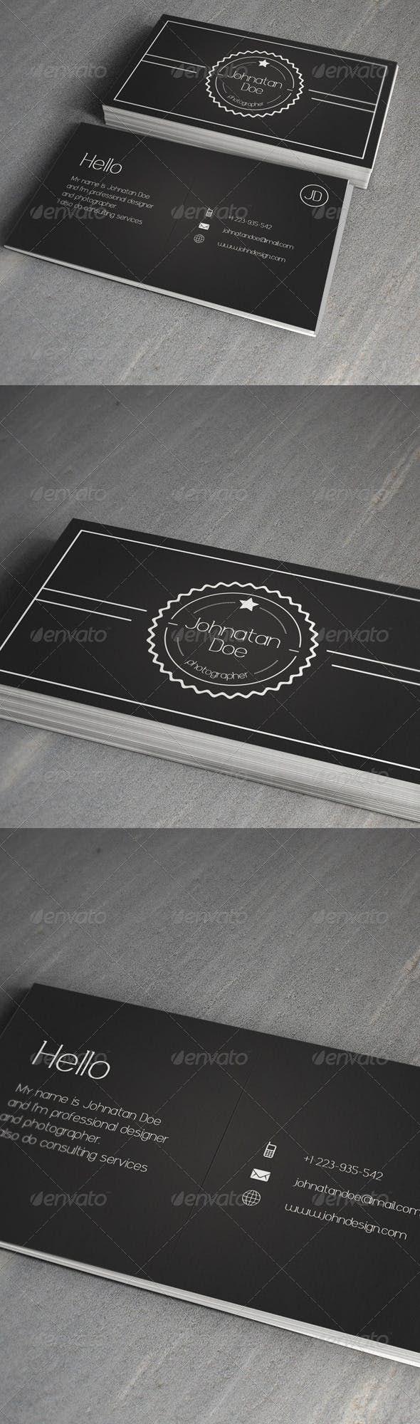Business Card | Business card photoshop, Business cards ...