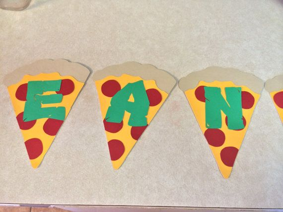 10 5 TMNT Pizza Slices with Letters for Banners by LeslisDesigns, $17.00