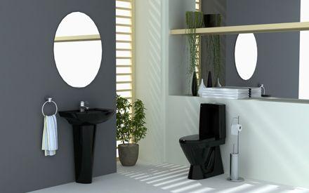 Mustaa tyylikkyyttä kylpyhuoneeseen. www.k-rauta.fi