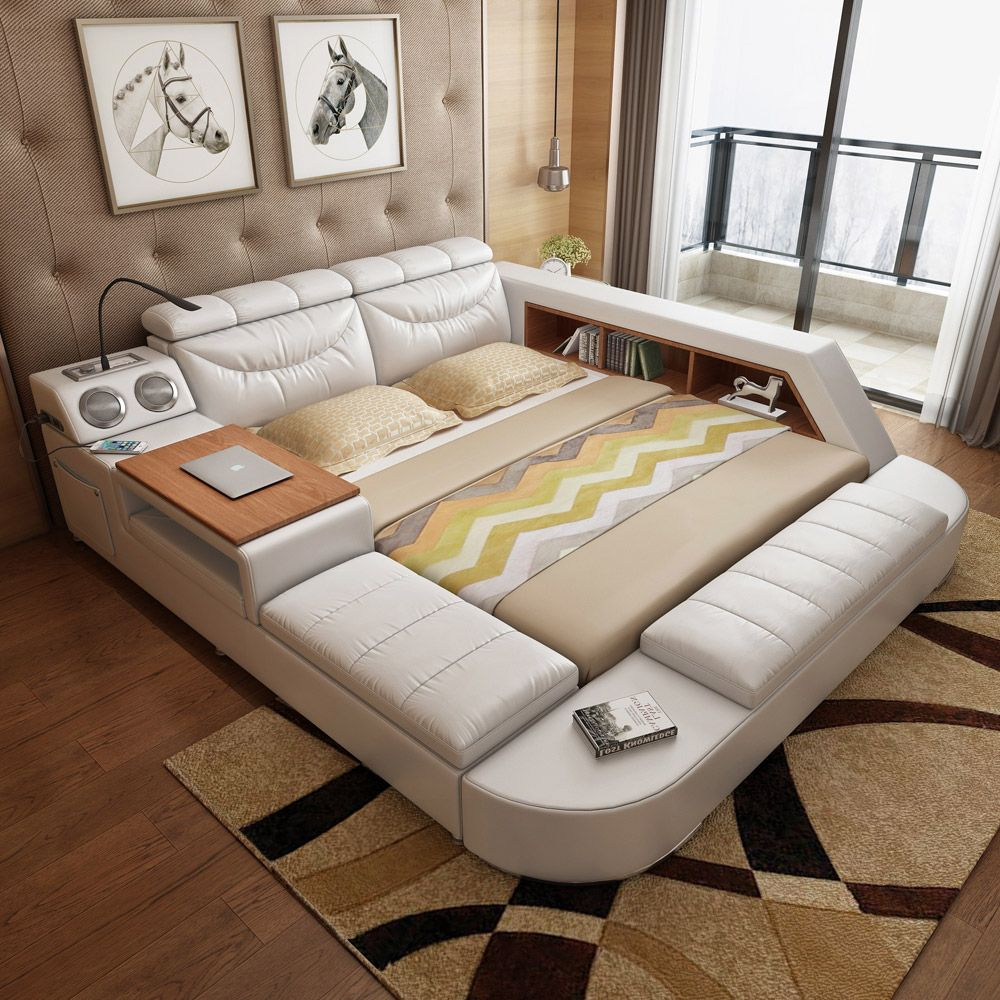 Usd 697 86 Audio Smart Bed Master Bedroom Tatami Bed 1 8 M Double