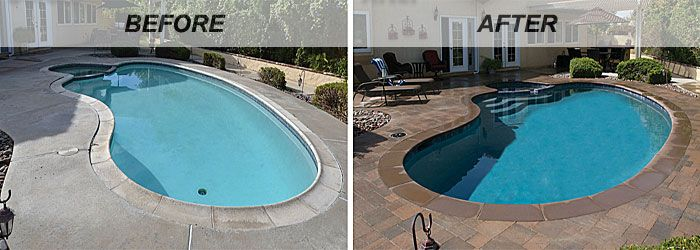 Swimming Pool Renovations Before And After Swimming Pool Renovation Swimming Pool Remodeling Pool Renovation