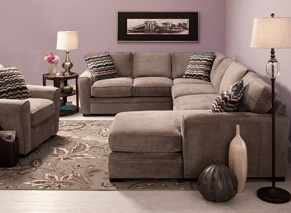 Artemis II 4-pc. Microfiber Sectional Sofa | Sectional Sofas | Raymour and Flanigan : artemis ii sectional - Sectionals, Sofas & Couches