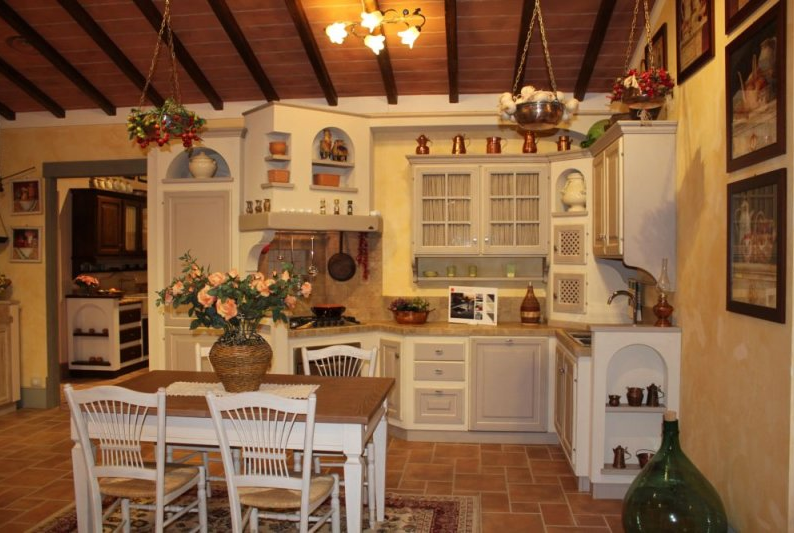 CUCINA RUSTICA GRIGIO CHIARO - Arredamento Shabby   Kitchen ...
