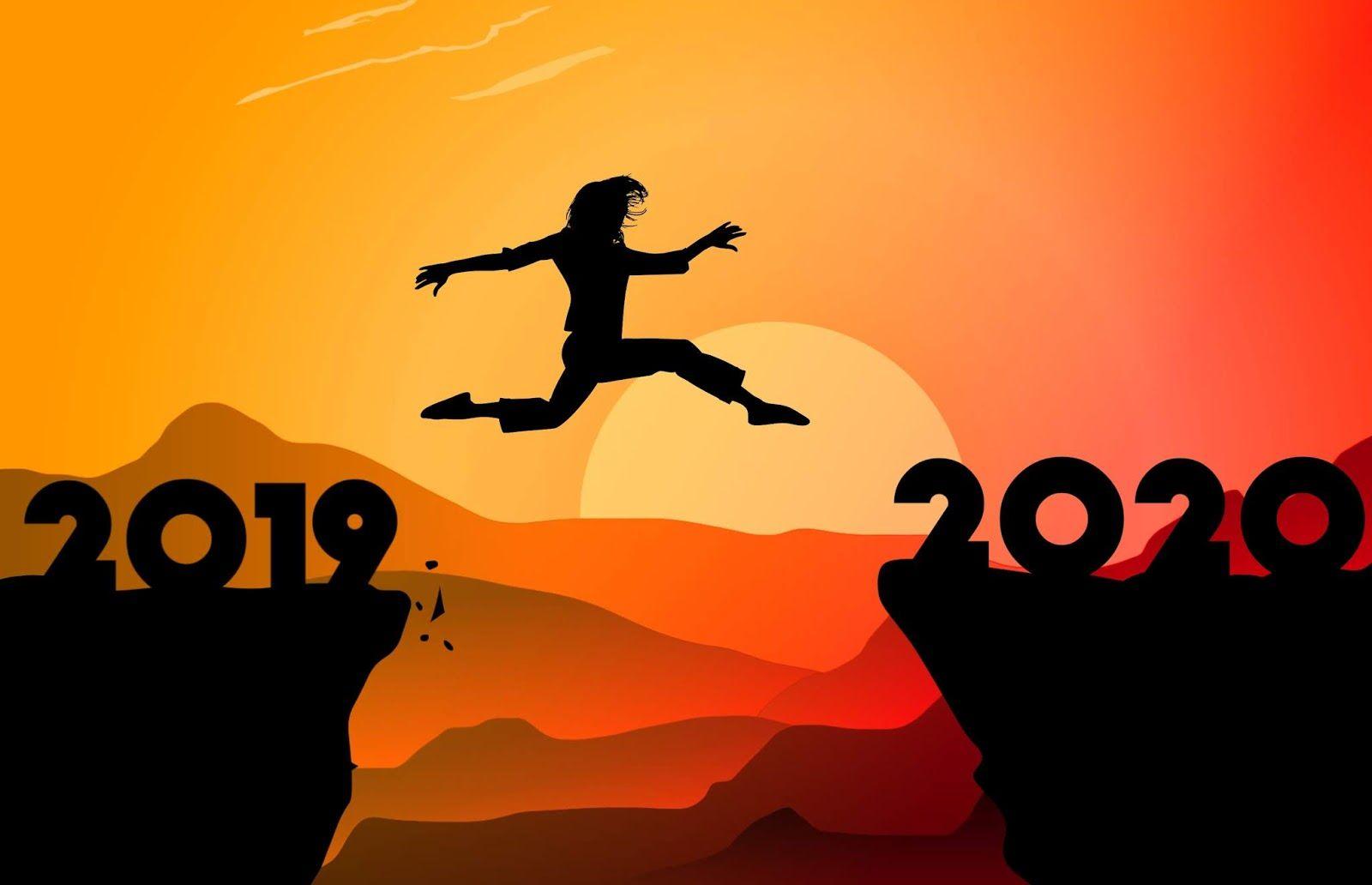 illustrations of reaching new year 2020 Bilder neujahr