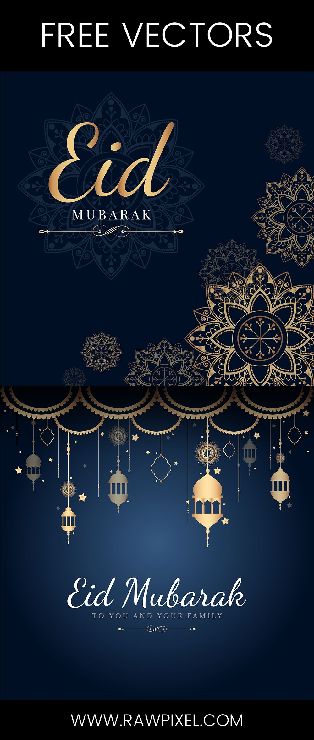 Free To Download Royalty Free Eid Mubarak Vectors Plus Many More Psd Mockups And Illustrations At Rawpixel Com Kartu E Card Fotografi Konseptual