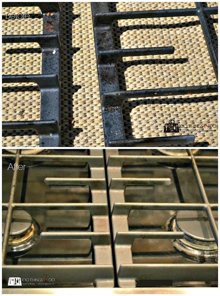 How To Clean Iron Grills On A Cooktop Clean Stove Grates Cast