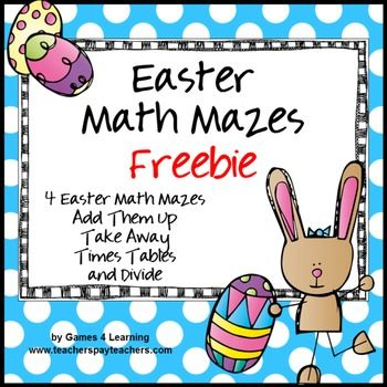 Easter Math Mazes From Games 4 Learningthese Easter Themed Printable