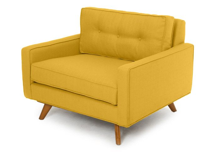 The Taylor Chair By Thrive Furniture Also Known As A Spencer Beautiful Upholstery With Angled Round Legs