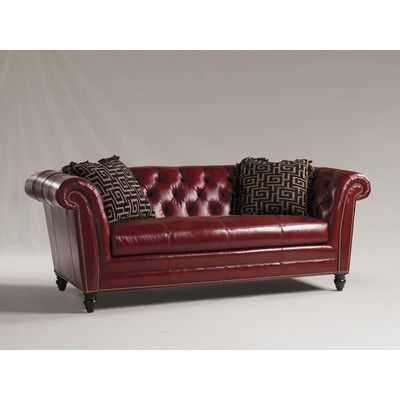 Henry Link Trading Co Bridgewater Leather Sofa Reviews Wayfair Couch Loveseat Cly Tufted Red